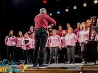Coro Polifónico de Las Flores actuando en el Concierto realizado en el Teatro Español de Pigüe
