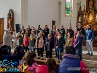 El Coro Polifónico de Las Flores actuando en el Concierto Religioso  en la Parroquia Nuestra Señora de Luján