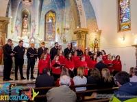 Coro Polifónico de Las Flores actuando en la Cantata Religiosa  en la Capilla del Instituto Niño Jesús