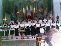 """1989 - Director Julio Rollhaiser  concierto navideno en el Templo Parroquial """"Nuestra Señora del Carmen"""""""